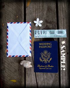 Around the World Party Passport Invitation