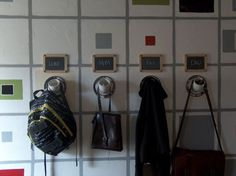 Hang your stuff, and place wallet/phone in the angled pipe