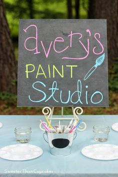 I am eager to take you on a little tour of Avery's watercolor painting party! Our party was full of DIY projects, and now that Avery is old...