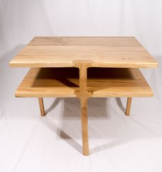 Tri-leg Waterfall Side Table - MSU Surplus Store