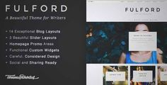 Download and review of Fulford - Responsive WordPress Blogging Theme, one of the best Themeforest Magazine & Blogs themes