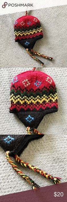 ca0e6427d5d NWOT Kyber Outerwear multicolor wool beanie Never worn. Adult sized. 100%  wool.