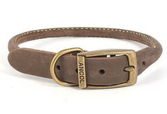 Ancol brown #leather #round dog #collars 6 sizes, View more on the LINK: http://www.zeppy.io/product/gb/2/321853093930/