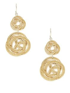 Timor Double Woven Knot Drop Earrings by Anna Beck Jewelry on Gilt.com