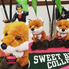 The #SweetBriar #AdmissionsVixens hanging out with #BeethovenActionFigure from Shenandoah University! Stop by our table tonight at the Southwest Virginia Higher Education Center in #Abingdon and say hi! #travelsmitludwig #travelseason2015