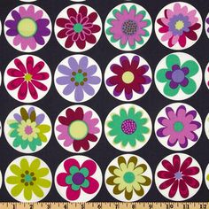 "Michael Miller's Big Daisy Dot - Gray - 100% Cotton, 43/44"" Available at : http://www.popularfabric.com/en/buy/i/MM_Big_Daisy_Dot_Gray"