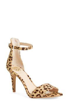 "Vince Camuto 'Court' Calf Hair Ankle Strap 3"" Sandal (Women) $97"