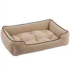 Jax and Bones Sleeper Dog Bed - Beige