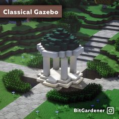 I made a little gazebo at my world spawn By u/bitgardener Minecraft Cottage, Minecraft Garden, Minecraft Mansion, Cute Minecraft Houses, Minecraft Room, Minecraft Plans, Amazing Minecraft, Minecraft House Designs, Minecraft Blueprints