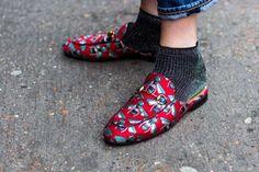 Back to basics: 50 ways to wear Gucci - Vogue Australia Fall Winter, Autumn, Vogue Australia, Gucci, Flat Mules, Street Style, Flats, London Fashion, My Style