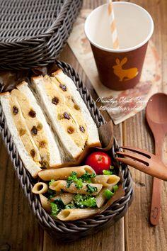 林檎とさつま芋のサンドイッチ弁当