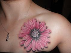 artistic gerbera daisies tattoos - Google Search