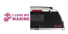 I Love My Marine (USMC) Indoor/Outdoor Vinyl Decal, MultiPurpose - For Your Auto, Wall, Window and More Purchase this product along with all of our other spectacular decals through one of the following links:   https://www.etsy.com/shop/MiaBellaDesignsWI  http://www.amazon.com/s?marketplaceID=ATVPDKIKX0DER&me=A2MSEOIVL689S1&merchant=A2MSEOIVL689S1&redirect=true