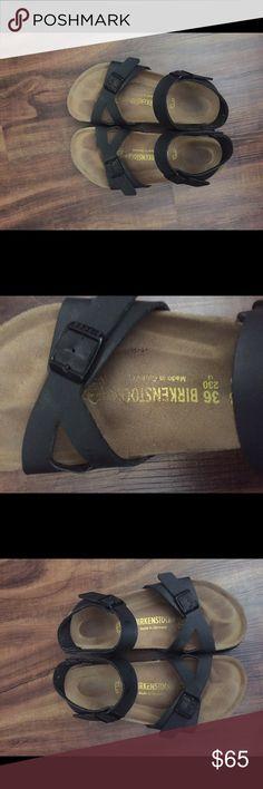 Birkenstock Rio Sandal Barely worn, Euro size 36 two-strap leather sandals! Birkenstock Shoes Sandals