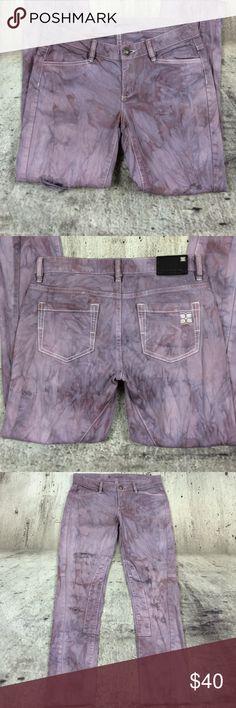 "BCBGMAXAZRIA printed ankle destroyer jeans BCBGMAXAZRIA printed ankle destroyer jeans cotton and spandex blend inseam 28"" rise 7"" no hem BCBGMaxAzria Jeans Ankle & Cropped"
