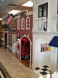 Village with Salon, Firehouse, Vet Office and Bistro from Lilliput at Lilliput … – Lilliput Play Homes – Cat playground outdoor Indoor Playhouse, Build A Playhouse, Kids Indoor Playground, Cat Playground, Playroom Design, Kids Room Design, Kid Playroom, Kids Cafe, Teen Bedroom Designs