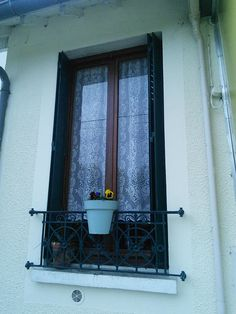 Paar Spitzevorhang Platten französischen Vintage Floral Spitze