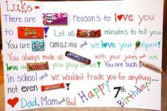 candy bar posters for boyfriends - Google Search