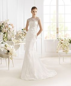 Atelier Diagonal 2014 Spring Bridal Collection (V) Lace Wedding Dress, Wedding Dresses 2014, Long Bridesmaid Dresses, Wedding Gowns, Inexpensive Wedding Dresses, Cheap Wedding Dresses Online, Pronovias Bridal, Bridal Gowns, Diagonal