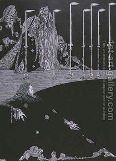The Pit and the Pendulum, c.1923 by Harry Clarke