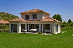Dream House Plans, House Floor Plans, My Dream Home, House Outside Design, House Design, Spanish Style Decor, Adobe House, Small Modern Home, Spanish House
