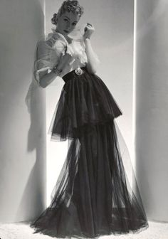 Mainbocher outfit by Horst P. Horst for Vogue, March 1938