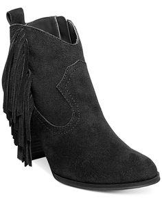 Steve Madden Ohio Fringe Booties - Booties - Shoes - Macy's