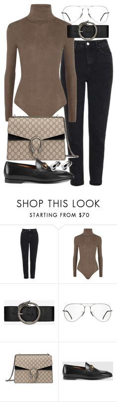 """Untitled #20533"" by florencia95 ❤ liked on Polyvore featuring Topshop, MICHAEL Michael Kors, Yves Saint Laurent, Ray-Ban and Gucci"