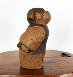 Kokeshi Doll Vintage Ochame by Takashi Yoshida Japanese Culture, Japanese Art, Japanese Doll, Wooden Statues, Wooden Art, Doll Japan, Kokeshi Dolls, Wooden Dolls, Dollhouse Dolls