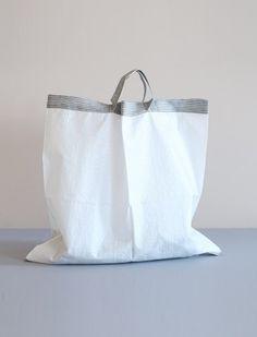 everyday needs - fog linen - linen handle shopping bag