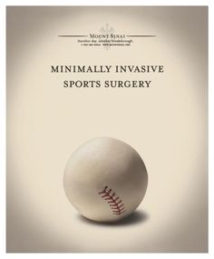 """Hospital: """"BASEBALL"""" Print Ad  by Devito/verdi - Great advertising and design at work here."""