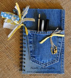 Love the idea of adding a denim pocket for my journeling tools!   This isn't a This and That but it easily could be - just need some cast off jeans.    Upcycled Denim Garden Art Journal