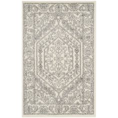 Found it at Wayfair - Sirena Ivory/Silver Area Rug