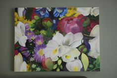 Custom Wedding Bouquet From Photo Oil Painting by WendyLDecker