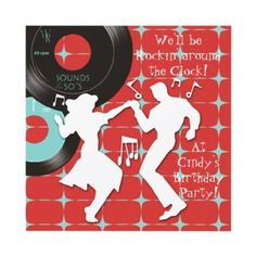 1950's Theme Birthday Party Invitations by InvitationCentral