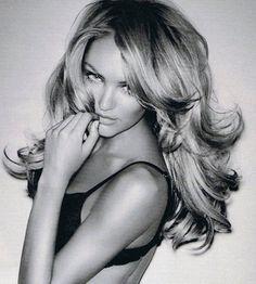 Candice Swanepoel's barrel curls