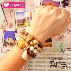 Novidades no site!!!! Kits para inspirar você a compor looks com muita feminilidade! Shop now!!!!  www.fazendoartebijuterias.com.br