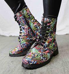 Marvel Comic Print Women's Boots