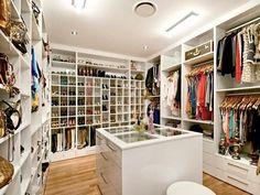 8 x 8 walk in closet design womens - Google Search