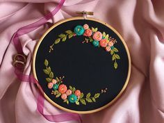 Grand Sewing Embroidery Designs At Home Ideas. Beauteous Finished Sewing Embroidery Designs At Home Ideas. Embroidery Hoop Crafts, Wedding Embroidery, Embroidery Flowers Pattern, Hand Embroidery Stitches, Modern Embroidery, Hand Embroidery Designs, Custom Embroidery, Ribbon Embroidery, Embroidery Ideas