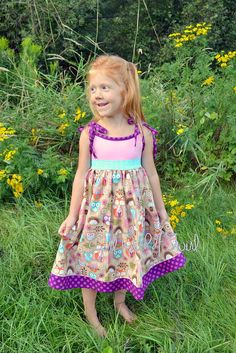 Hey, I found this really awesome Etsy listing at https://www.etsy.com/listing/244978818/girls-owl-dress-long-dress-pink-and