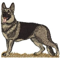 Dakota Collectibles Embroidery Design: German Shepherd 5.01 inches H x 5.25 inches W
