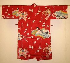 Kimono kurz Hime Sakura rot