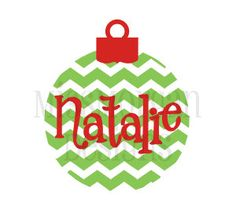 Personalized Chevron Christmas Ornament  iron on by MissMorgan, $7.00