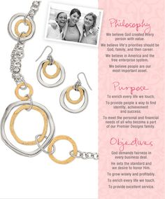 Premier jewelry-Philosophy, Purpose and Objectives. These are what makes this the best company in the industry!