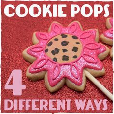 If you've ever thought about making cookie pops (or cookies on a stick) and have decided not to because you were intimidated, this post is for you! #decoratedcookies