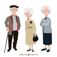 As pessoas mais velhas ilustração Vetor grátis