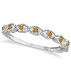 Beautiful Antique Marquise Shape Citrine Wedding Ring k White Gold ct