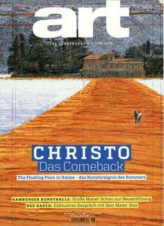 Christo - Das Comeback. #Cover #MagazineCover Gefunden in: Art das kunstmagazin, Nr. 6/2016