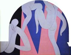 Henri Matisse - The Dance 1933  The Dance 1933 338x439cm oil/canvas three panels Barnes Foundation, Lincoln University, Merion, PA, USA